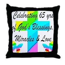65 YR OLD PRAYER Throw Pillow