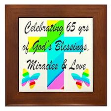 65 YR OLD PRAYER Framed Tile