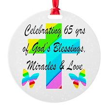 65 YR OLD PRAYER Ornament