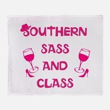 Southern Sass and Class Throw Blanket