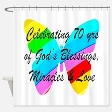 GOD LOVING 70TH Shower Curtain