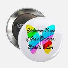 "GOD LOVING 70TH 2.25"" Button"