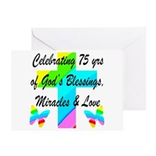BLESSED 75 YR OLD Greeting Card