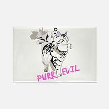Siberian cat purr evil Magnets
