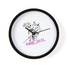 Siberian cat purr evil Wall Clock