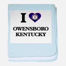 I love Owensboro Kentucky baby blanket