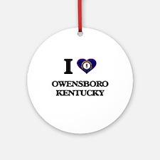 I love Owensboro Kentucky Ornament (Round)
