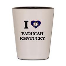 I love Paducah Kentucky Shot Glass