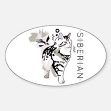 Siberian cat Decal