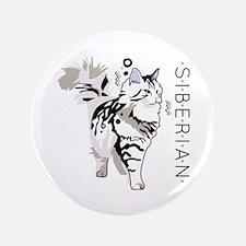 Siberian cat Button
