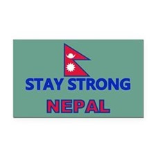 Stay Strong Nepal Rectangle Car Magnet