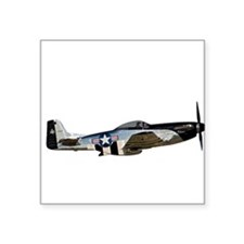 "Cute Aircraft Square Sticker 3"" x 3"""