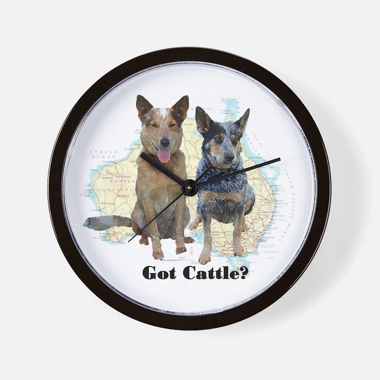 Australian Cattle Dog Clocks Australian Cattle Dog Wall Clocks