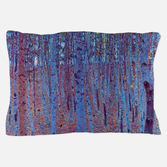 Beech Forest by Gustav Klimt, Vintage Pillow Case