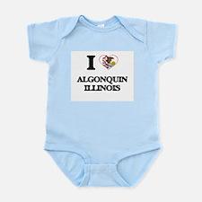 I love Algonquin Illinois Body Suit