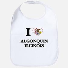 I love Algonquin Illinois Bib