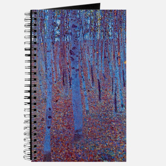 Beech Forest by Gustav Klimt, Vintage Art Journal