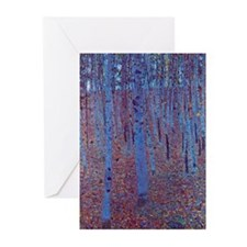 Beech Forest by Gustav Klimt, Vinta Greeting Cards