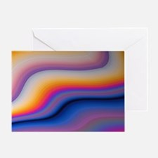 Beautiful Colorful Abstract Fractal  Greeting Card