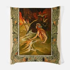The Mermaid HC Andersen Woven Throw Pillow