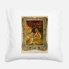 The Mermaid HC Andersen Square Canvas Pillow