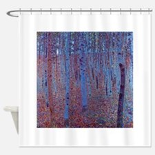 Beech Forest by Gustav Klimt, Vinta Shower Curtain