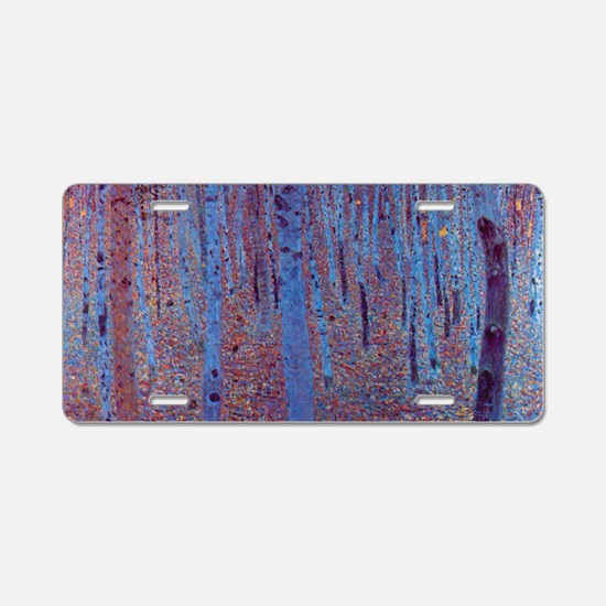 Beech Forest by Gustav Klim Aluminum License Plate