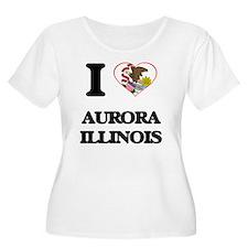 I love Aurora Illinois Plus Size T-Shirt