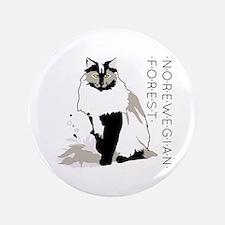 Norwegian forest cat Button