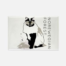 Norwegian forest cat Magnets