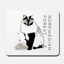 Norwegian forest cat Mousepad