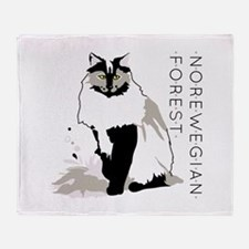 Norwegian forest cat Throw Blanket