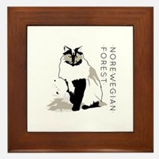 Norwegian forest cat Framed Tile