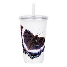 Black butterfly Acrylic Double-wall Tumbler
