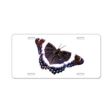 Black butterfly Aluminum License Plate