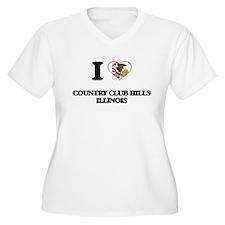 I love Country Club Hills Illino Plus Size T-Shirt