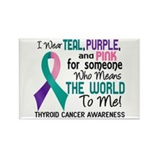 Thyroid Cancer MeansWorldToMe2 Rectangle Magnet
