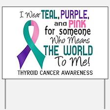 Thyroid Cancer MeansWorldToMe2 Yard Sign
