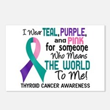 Thyroid Cancer MeansWorld Postcards (Package of 8)
