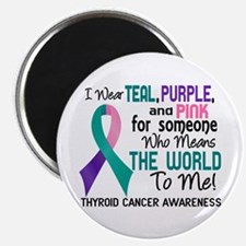 "Thyroid Cancer MeansWorldTo 2.25"" Magnet (10 pack)"