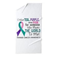 Thyroid Cancer MeansWorldToMe2 Beach Towel