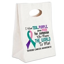 Thyroid Cancer MeansWorldToMe2 Canvas Lunch Tote