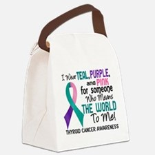 Thyroid Cancer MeansWorldToMe2 Canvas Lunch Bag