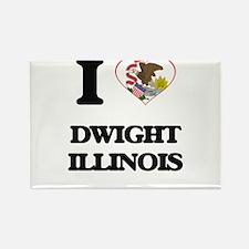 I love Dwight Illinois Magnets