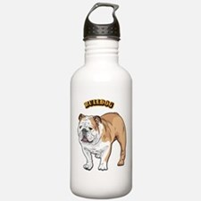 bulldog with text Water Bottle