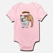 bulldog with text Infant Bodysuit