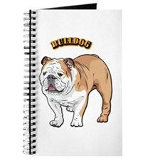 bulldog with text Journal