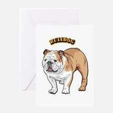 bulldog with text Greeting Card