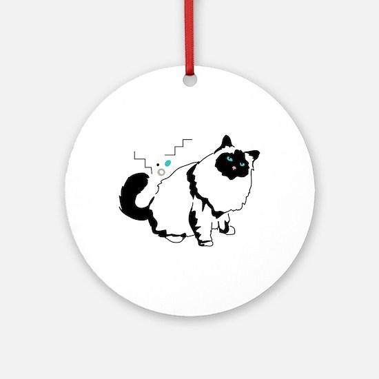 Birman cat Ornament (Round)