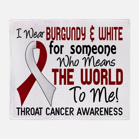 Throat Cancer MeansWorldToMe2 Throw Blanket